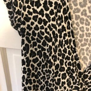Express Dresses - Express cheetah print wrap dress